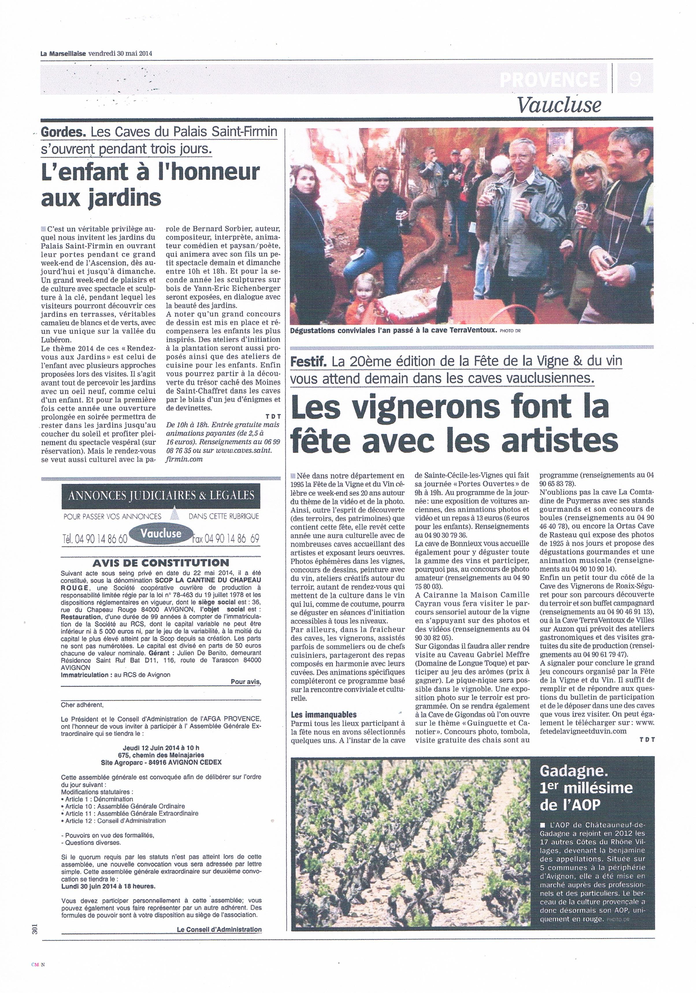 Article presse 2014